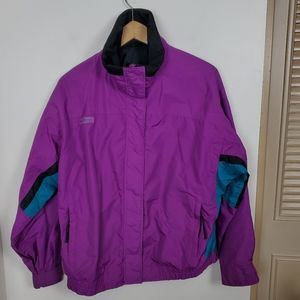 Vintage XL purple Columbia ski jacket coat 80s